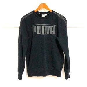 PUMA Logo Long Sleeve Crewneck Sweatshirt Black